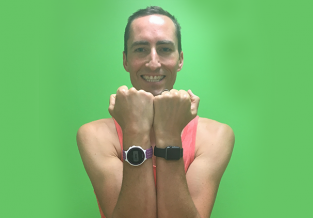 Andrew wearing Apple Watch and Garmin Forerunner 220 Sports