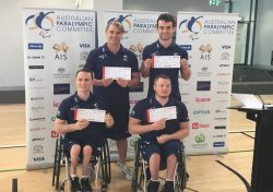 Members of the Australian men's wheelchair basketball team for Rio 2016. (Source: Basketball Australia)